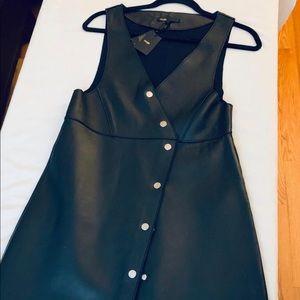 Maje leather dress